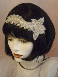 1920's  Headpiece Flapper Headband  Gatsby by elisevictoriadesigns, $49.00