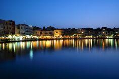 Old harbor, Chania, Crete, greece