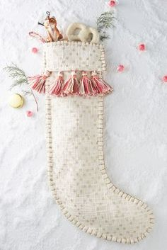 Tasseled Stocking | Anthropologie