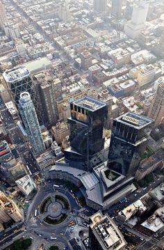 Aerial View of Columbus Circle, NYC