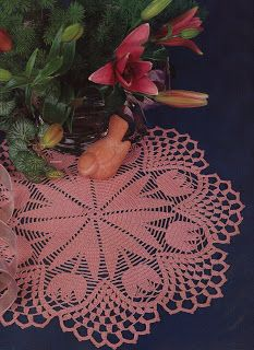 Spring tulip crochet doily pattern