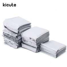 Kicute New Arrival White Poly Bubble Mailers PE Plastic Padded Envelope Shipping Bags Mailing Bags Gift Envelope, Envelope Sizes, Shipping Supplies, Paper Envelopes, School Supplies, Office Supplies, Cheap Bags, Bubble Wrap, Goods And Service Tax