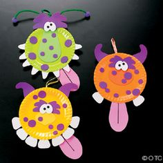 paper plate monsters - easy craft in class