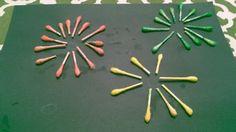 Fireworks q tip craft-    http://woodland.macaronikid.com/article/311160/fun-fireworks