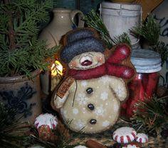 Primitive Patti's Ratties Snowman Doll Gingerbread Frosty Ornament Bear Artist