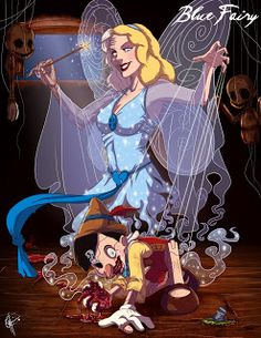 Pinocchio and The Blue Fairy - Jeffrey Thomas's Portfolio: Twisted Princess