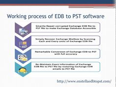 EDB to PST software to recover inaccessible EDB file to convert them into PST file very speedily.
