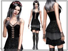 My Sims 3 Blog: Mini Gothic Dress by Altea127