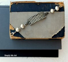 Vintage Rhinestone Shoe Clip and Pearl Assemblage by simplymeart, $68.00