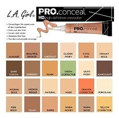 A Girl pro conceal (HD concealer) all shades available. Swatch, Covering Dark Circles, Full Coverage Concealer, Cream Concealer, Even Out Skin Tone, Perfume, Contouring And Highlighting, Shopping, Makeup Tips