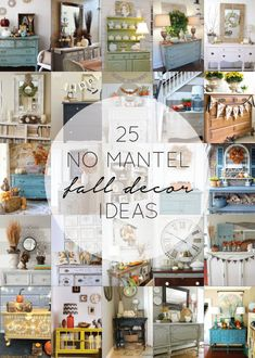 25 No Mantel Fall Decor Ideas - brepurposed