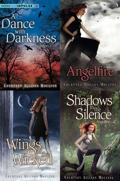 Author: Courtney Allison Moulton  Books: #0.5 A Dance With Darkness             #1 Angelfire              #2 Wings Of The Wicked             #3 Shadows In The Silence