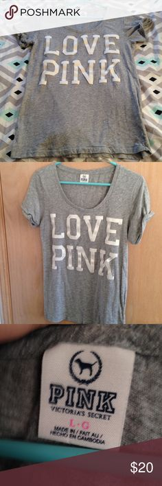 Love Pink Shirt P!nk Victoria's Secret t-Shirt. In excellent condition only worn a handful of times no flaws! PINK Victoria's Secret Tops Tees - Short Sleeve