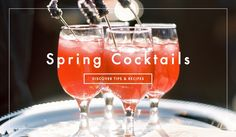 The Best Signature Cocktails for Spring Weddings. Photography: Braedon Photography. View tips and recipes: http://www.insideweddings.com/news/planning-design/the-best-signature-cocktails-for-spring-weddings/1930/