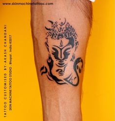 Perfect balance of Peace and Power Originally designed this awesome combination of my favourites Lord Buddha along with Lord Shiva , custom work by Akash Chandani Hope you guys like this too Email for appointments - skinmachineteam@gmail.com or DM www.skinmachinetattooz.com