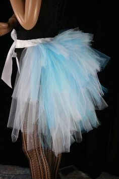 Ice Queen bustle burlesque tie on costume by SistersEnchanted
