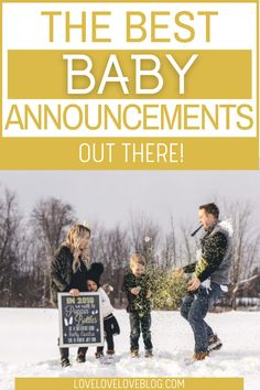 Here are over 70 baby announcement ideas for the new mom. Your pregnancy announcement is such a special time. These ideas will give you the perfect inspiration to share your big news. These are the best baby announcement ideas to husband, parents, and family! Share your exciting first, second,or 3rd baby announcement using pictures featuring Harry Potter, with a dog, or with baby's sibling! #babyannouncement #newborn #baby #pregnancy #pregnancyannouncement