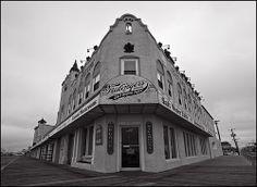 """""""Fralinger's Salt Water Taffy Store"""" .. On the Ocean City,NJ  boardwalk."""
