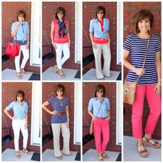 Spring 7×7 Challenge. How to create 7 different outfits from 7 pieces of clothing!