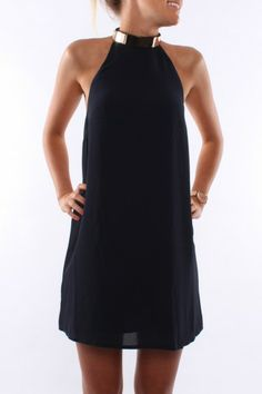 Keepsake Reckless Mini Dress $129.95  In love with this amazing dress which features a gold neck detail which looks super gorgeous against the navy colouring of the dress. SHOP: http://www.jeanjail.com.au/ladies/keepsake-reckless-mini-dress-navy.html