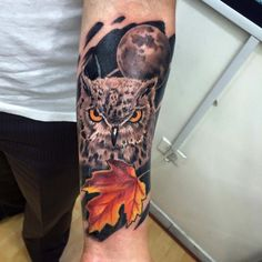 Owl Tattoo @alwin8