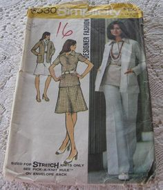 Simplicity Pattern 5530 Career Wardrobe Jacket by vintagecitypast, $5.98