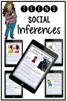 Social inferencing skills practice for older students, teens, middle school, high school.   Social skills, social emotional and pragmatics activities for students with autism, asd, adhd speech language impairment and social skills deficits. Social problem solving and inferences.  Social emotional learning.   #social #socialinferences #socialinferencing #inferences #socialemotional #pragmatics #slang #indirectlanguage #slp #speech #aba #appliedbehavioranalysis #problemsolving #sel #autism… Social Skills Activities, Activities For Teens, Perspective Taking, Applied Behavior Analysis, Social Behavior, Social Emotional Learning, Inference, High School Students, Speech And Language