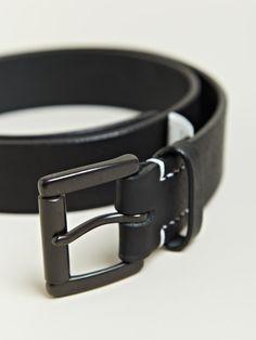 Yohji Yamamoto Men's Full Grain Leather Belt | LN-CC
