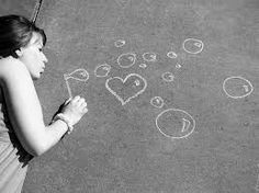 Chalk photography. But instead of bubbles your graduating year and from where and your name!