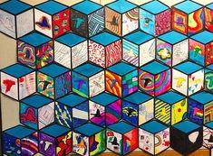 Inspiriert von Street Artist Thank YouX -Cube Wandbild Inspiriert von Street Artist Thank YouX - Cube Mural Inspired by Street Artist Thank YouX – Art is Basic Class Art Projects, Middle School Art Projects, Collaborative Art Projects, Classroom Art Projects, Art Classroom, Clay Projects, Cube Mural, Art Cube, Mural Art