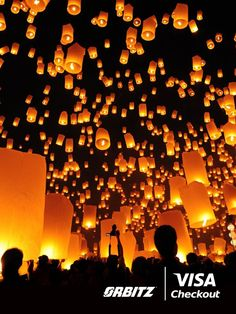 The lantern festival at Chiang Mai is an enchanting celebration that nature buffs, cultural enthusiasts and those who thirst for adventure can all enjoy. When planning your trip there, use Visa Checkout online at Orbitz so you can spend less time paying and more time finding the perfect place to see the lanterns. | Visa Checkout helps you go from pin to reality, in just a few clicks.