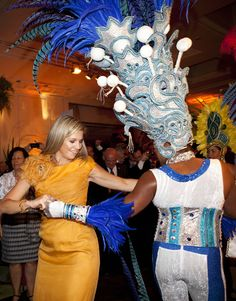 Princess Maxima dances up a storm with Samba session in Brazil