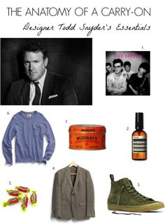What Menswear Designer Todd Snyder Keeps in His Carry-On