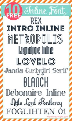 free inline fonts from moritzfineblogdesigns.com