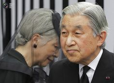 Japan's Emperor Akihito (R) and Empress Michiko leave after praying at the altar of late Prince Tomohito, a cousin of the Emperor, in Tokyo June 19, 2012