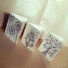 Zentangle & doodle. Illustration flower, sun and tree for greeting cards.