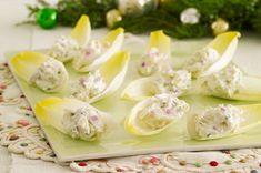 Bouchées crémeuses au crabe - La feuille d'endive se transforme en petite cuillère dont vos invités ne feront qu'une bouchée !