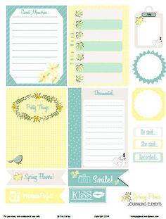 Free Printable Download – Spring Posies Journaling Elements