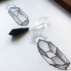 Crystals. Sketch available. Эскиз свободен  #dashatattooer #tattoo #tattooart…