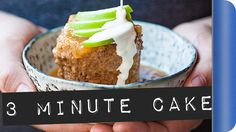 3 minute Caramel Apple and Bran Flakes Cake #ad