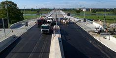 Bau der Waldschlösschenbrücke in Dresden