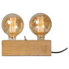 Lampe double à poser en bambou Idea