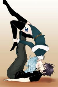 Fairy Tail Another cute Gruvia kiss pose pic im wondering if this is possible and if so awkward or romantic. Fairy Tail Gray, Fairy Tail Nalu, Fairy Tail Ships, Art Fairy Tail, Fairy Tail Amour, Fairy Tail Comics, Fairy Tail Love, Fairy Tail Guild, Fairy Tales