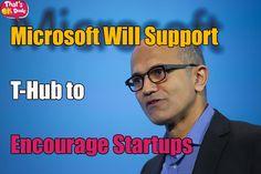Satya Nadella Helps Microsoft to work with Telangana HUB