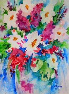 """Garden Bouquet"" - Original Fine Art for Sale - © Martha Kisling"