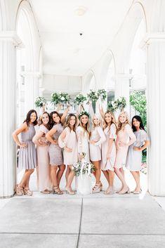 Nude Bridesmaids Dresses / Bountiful Temple Wedding / LDS Bridesmaids / Blush Bridesmaids / Mary Keen Photography