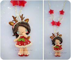 Christmas Doll Fimo by tanadelbianconiglio.deviantart.com: