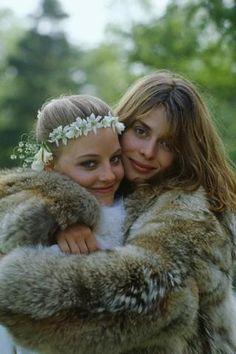 "Nastassja Kinski with Jodie Foster in ""Hotel New Hampshire"""