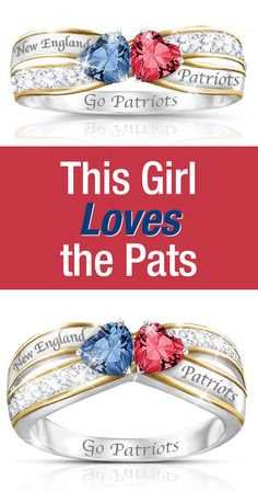 This Girl Loves the Pats Wear your pride for the Super Bowl XLIX champions when you slip into this NFL-licensed New England Patriots women's ring.