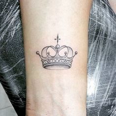 Sweet Subtly-Shaded Small Crown Tattoos on Wrist